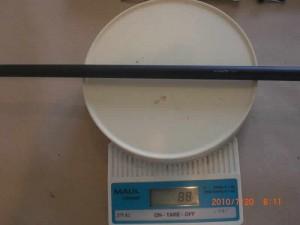 Peso del Mastil Negro